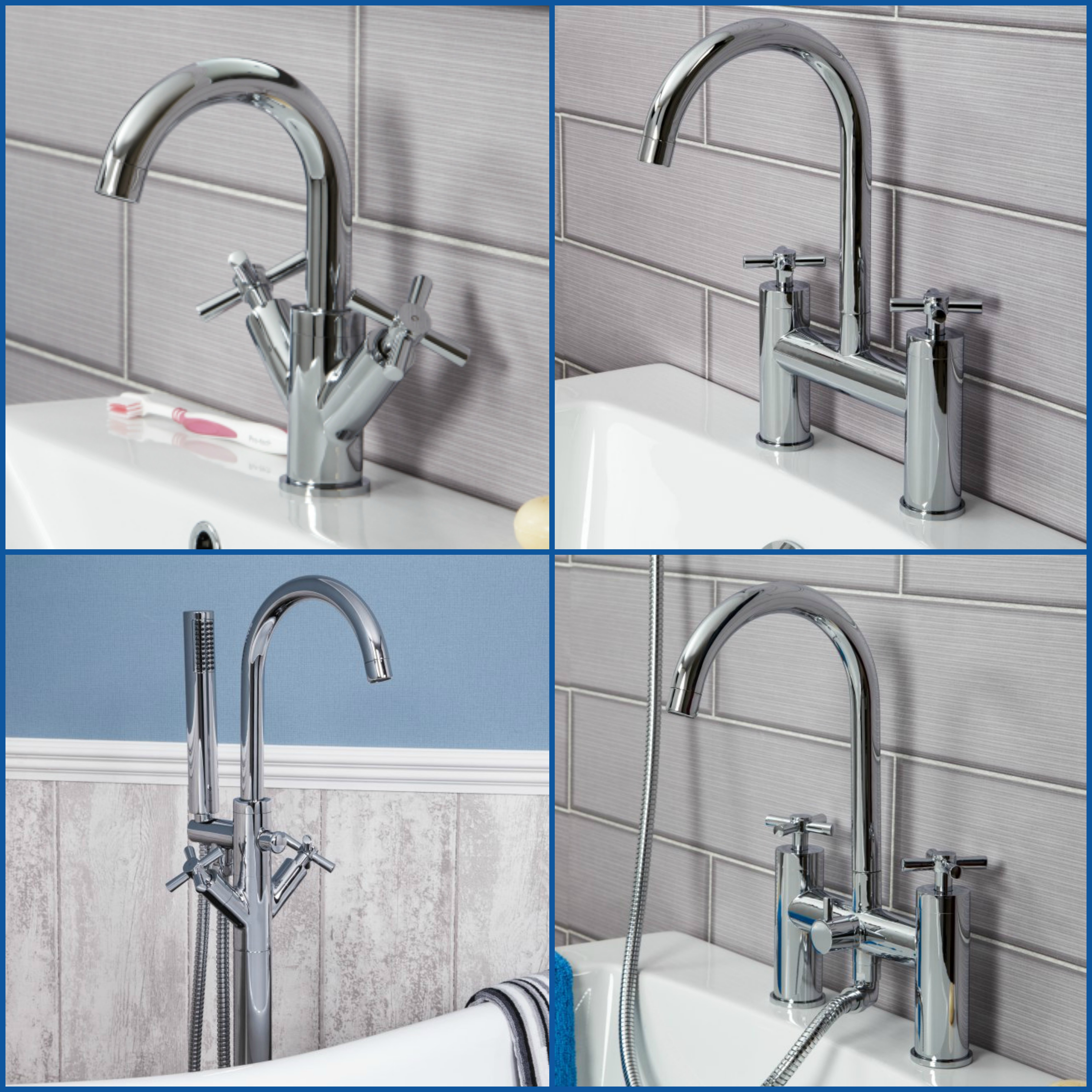 Modern Bathroom Tap Sets Mono Basin Mixer Bath Filler Shower Mixer ...