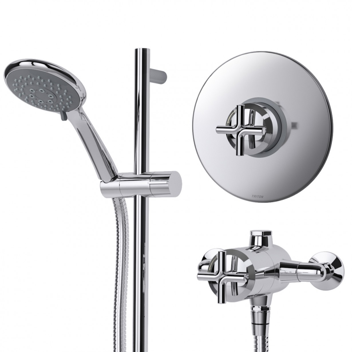 Concealed Shower Room Steam Room Thermostatic Valve: Triton Kensey Thermostatic Mixer Shower Exposed/Concealed